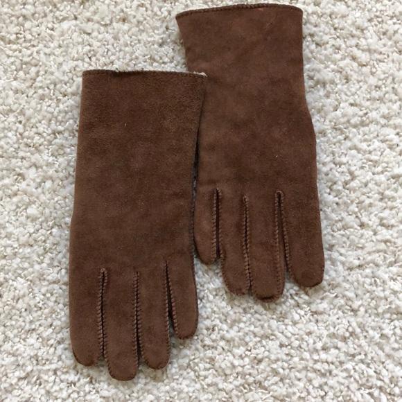 d2c1c73dd Accessories | Suede Gloves Ladies Large Fleece Lined | Poshmark